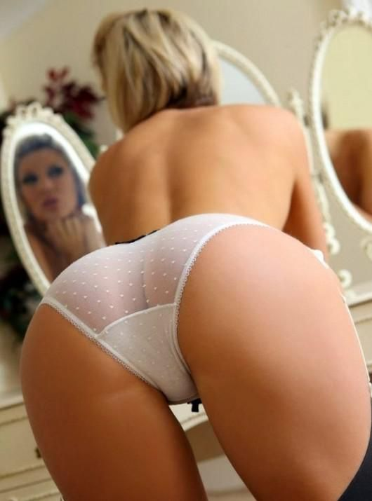 blonde over bent Sexy lingerie