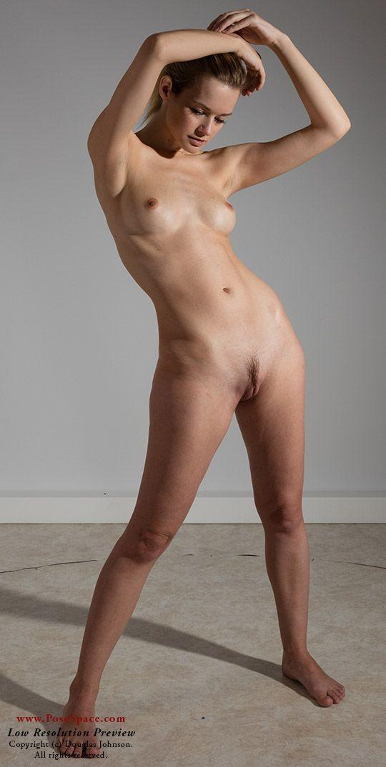 naked woman drawing poses