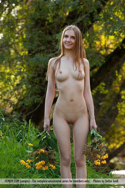 hippie redhead Nude goddess
