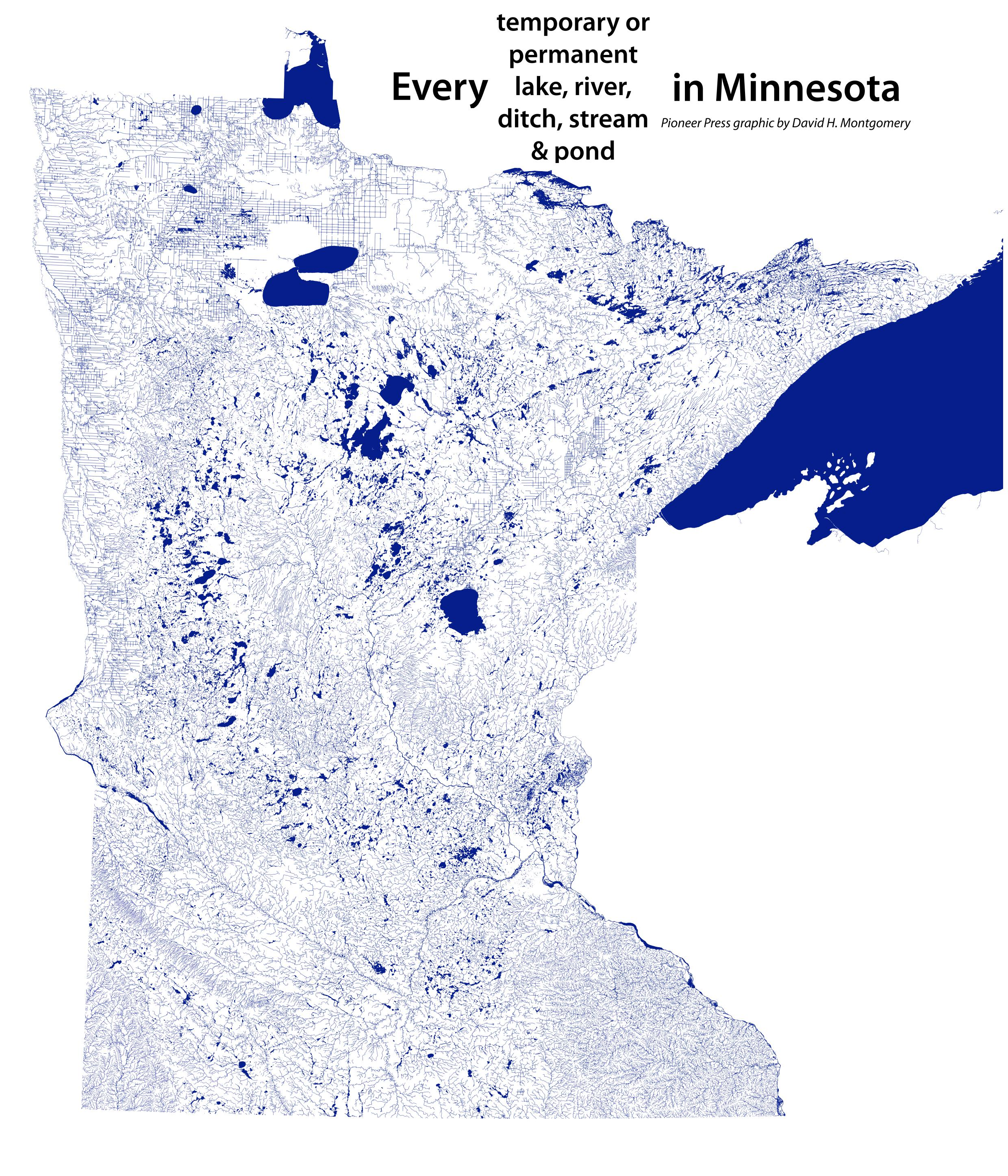 minnesota have does many lakes How