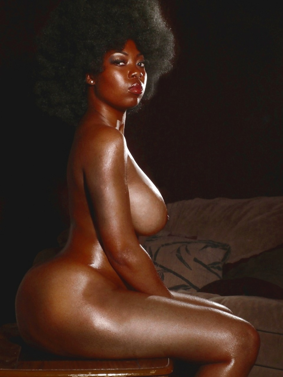 sexy dark skin black girls nude