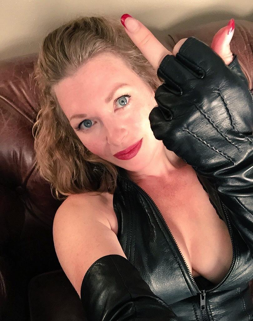 Tight t leather gloves leather mistress women
