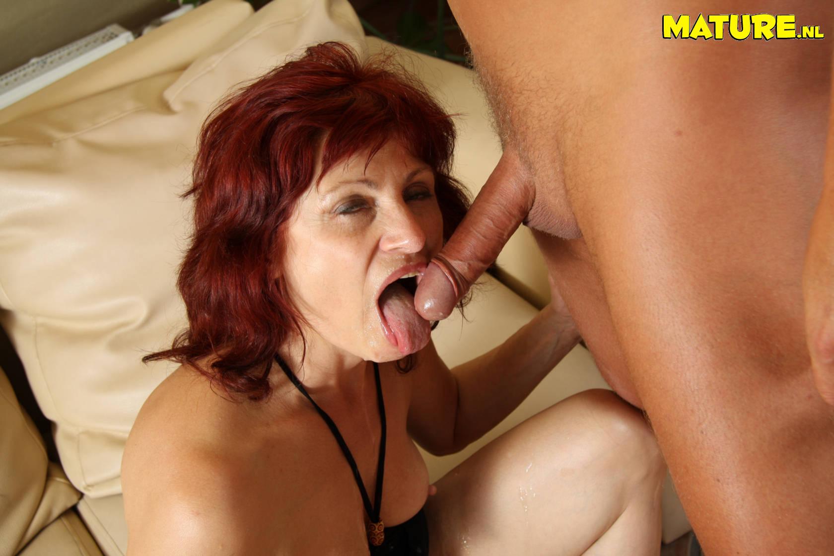 milf cock sucking redhead Hot