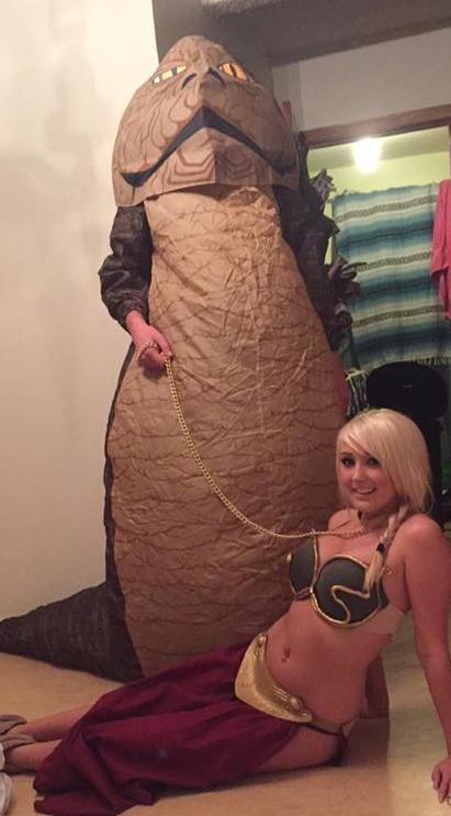 leia cosplay Slave