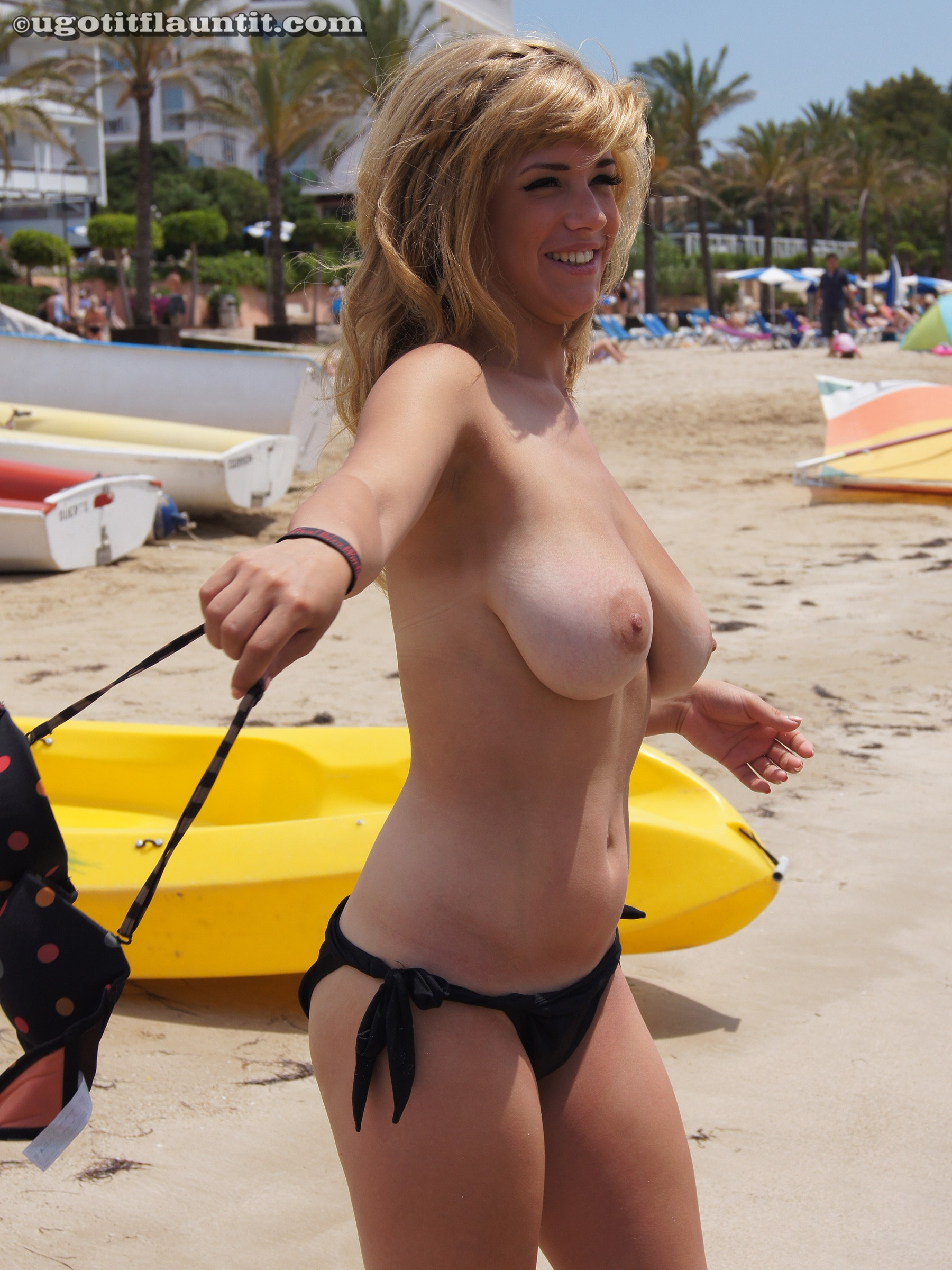 beach boobs Amateur big