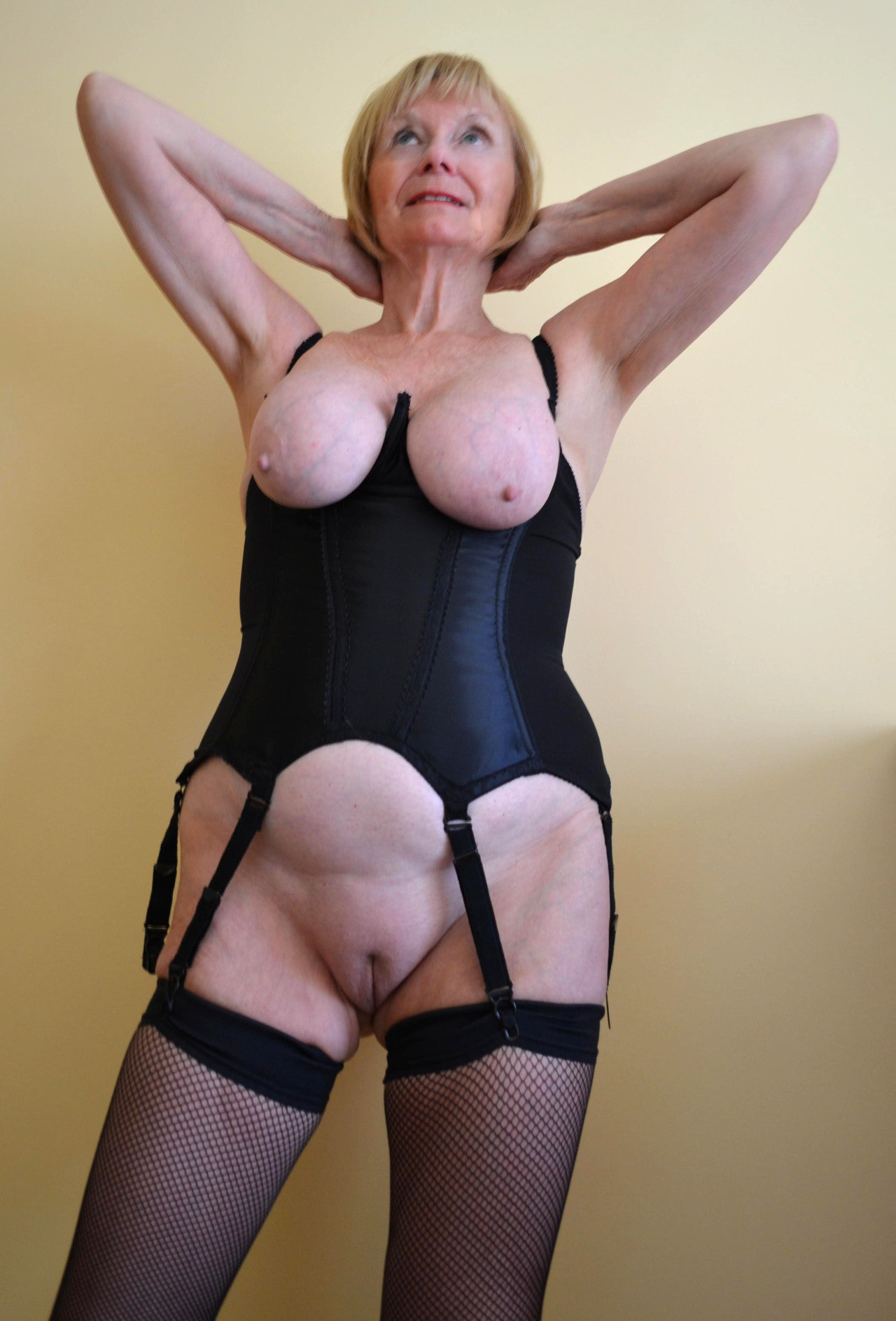 in women Amateur lingerie mature