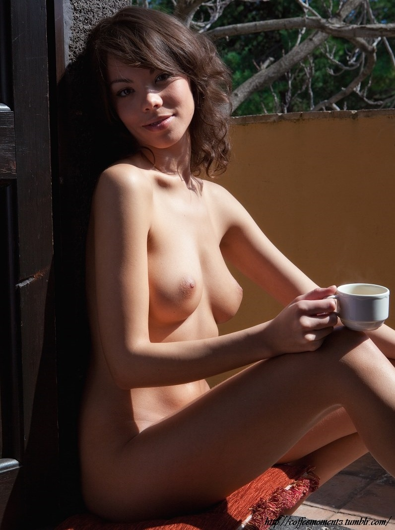 Recommend you Girls naked drinking coffee final