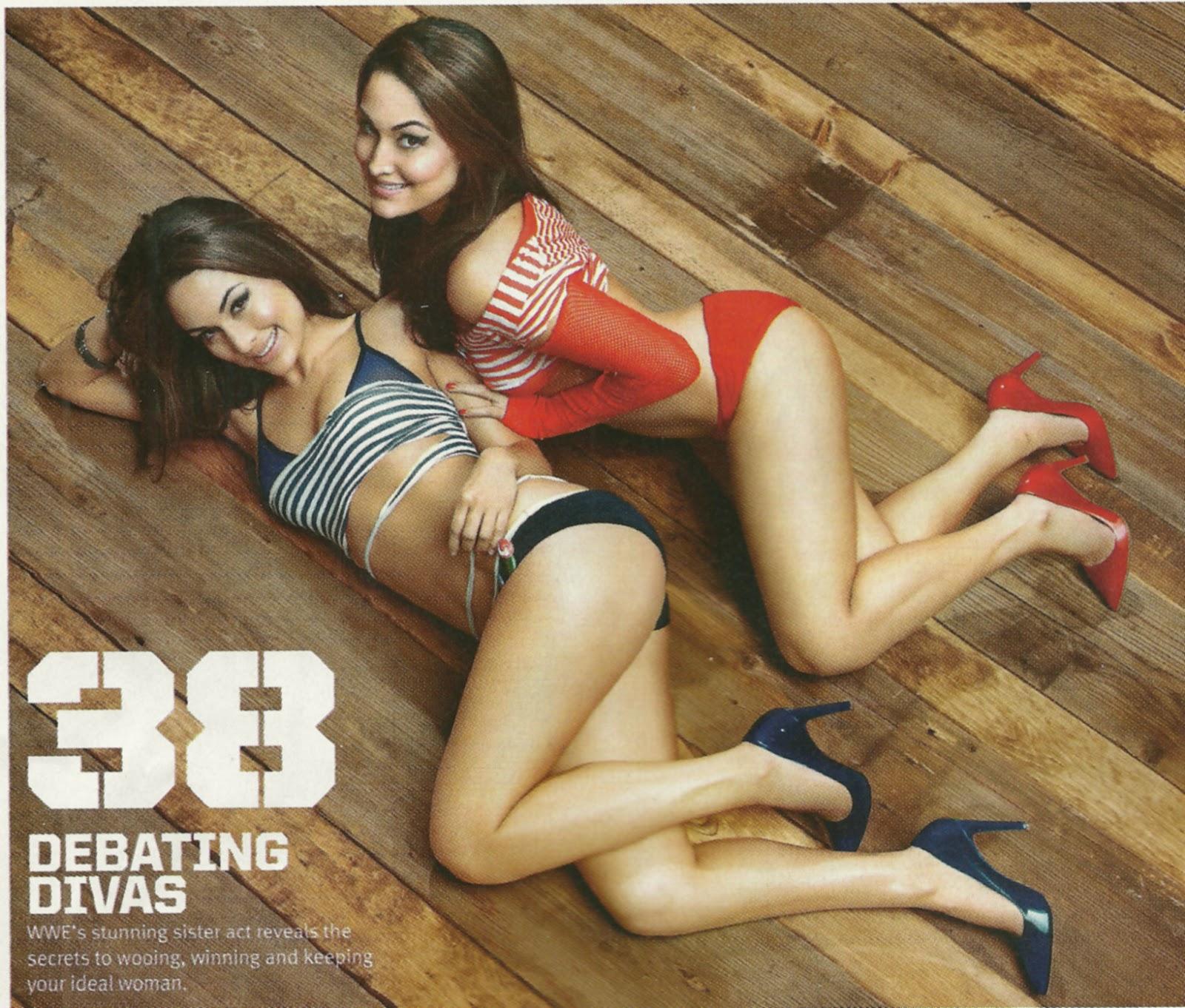 bella naked twins wwe Nude