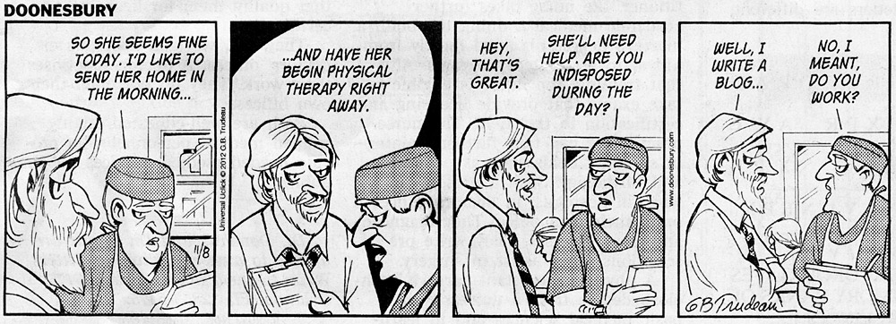 occupational therapy and Doonesbury