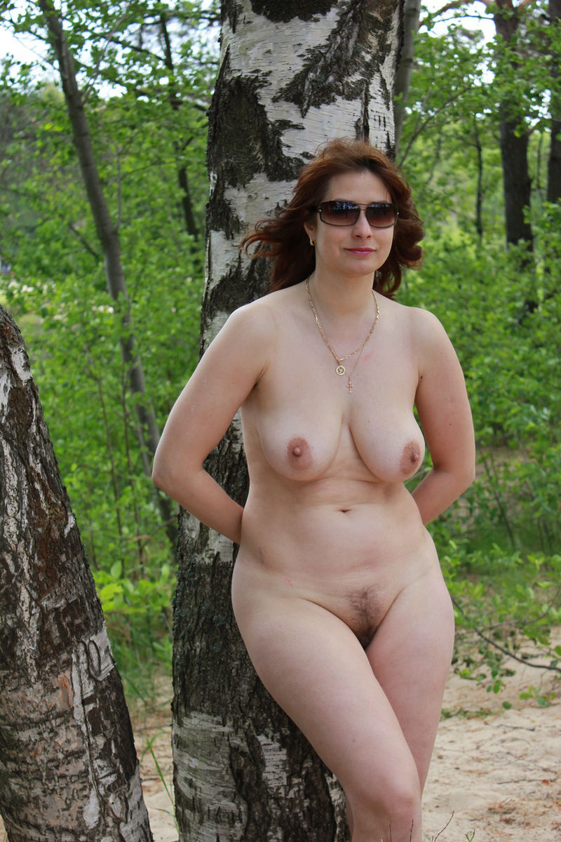 outdoors women Older nude