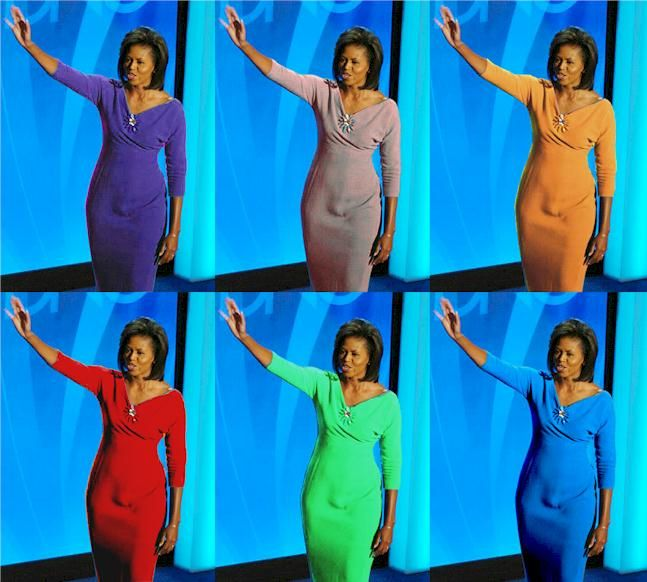 bulge Michelle obama
