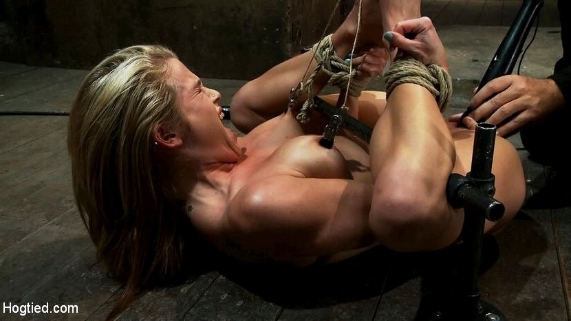 forced Girls orgasm tied