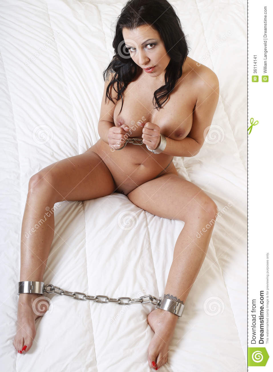 video public Naked bondage handcuff sex