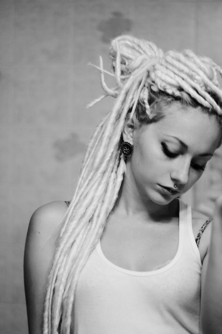 with Blonde dreads girl