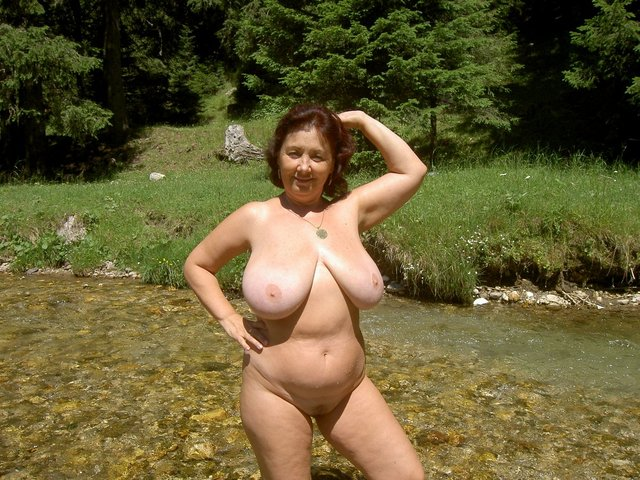 asian outdoors Busty milf