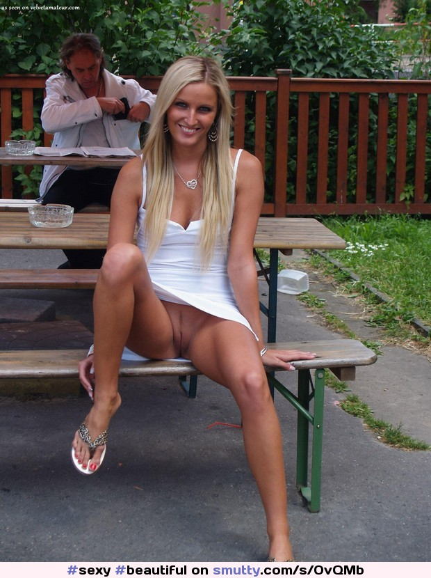 flash public pussy Legs spread