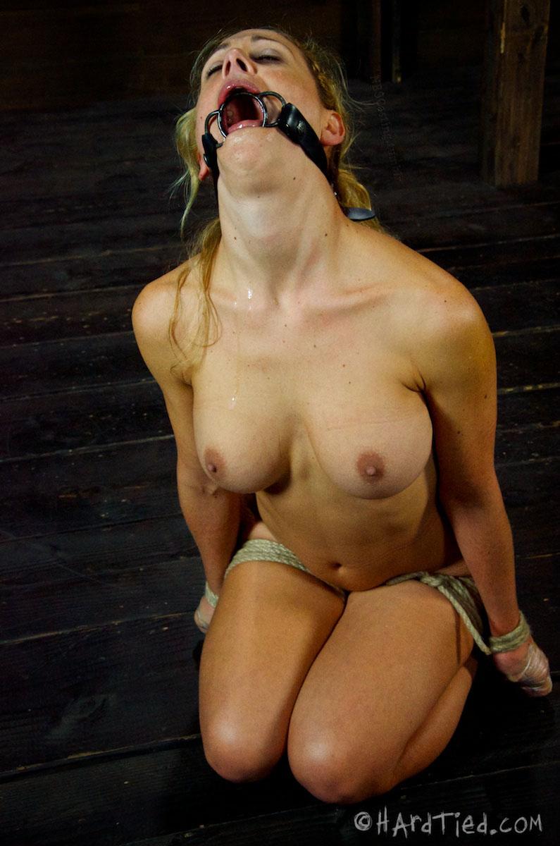 ball blonde Milf gagged
