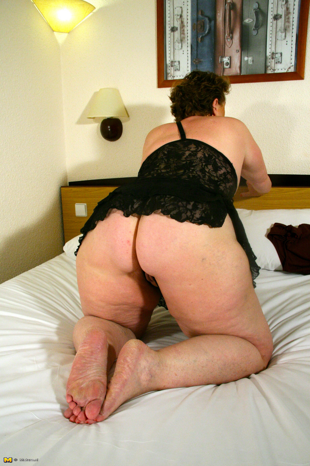 with herself Naughty housewife playing