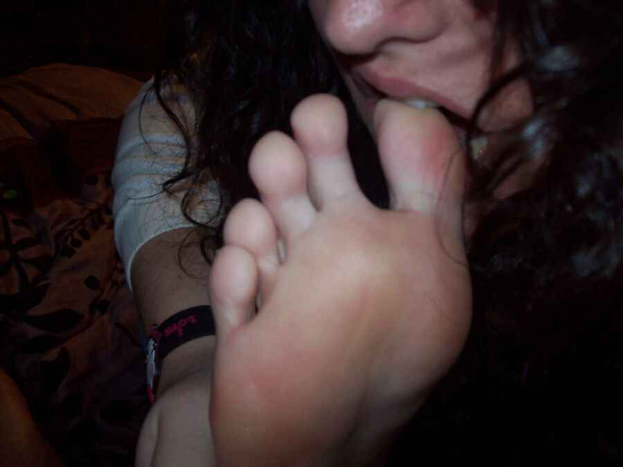 own Girls licking feet their