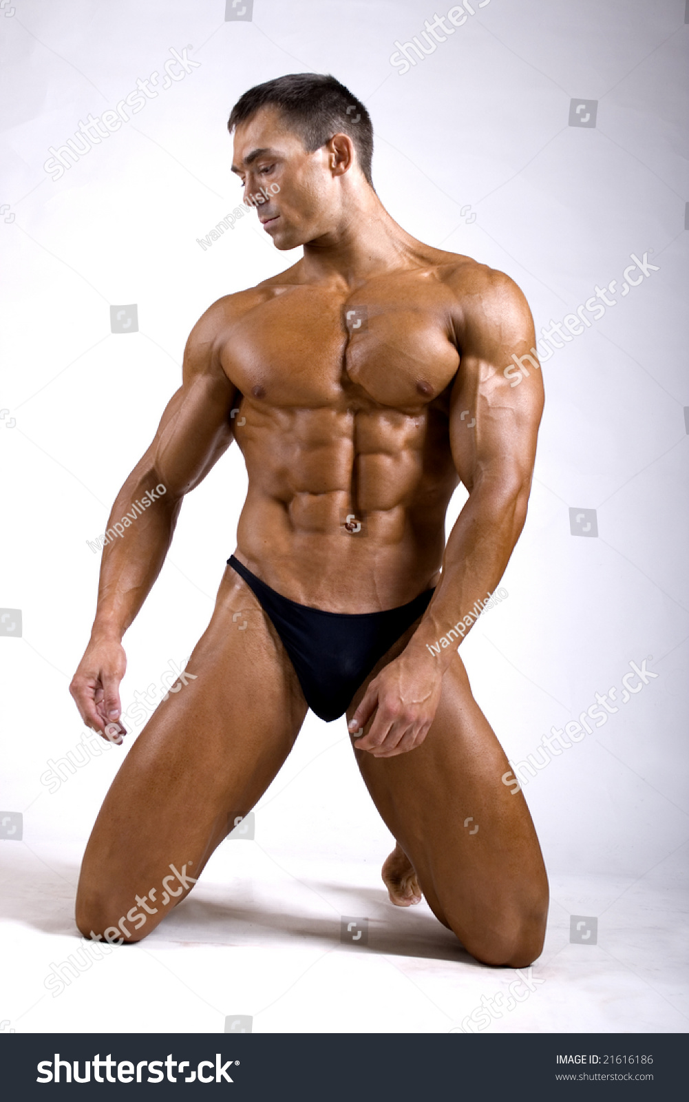 naked Big man muscular