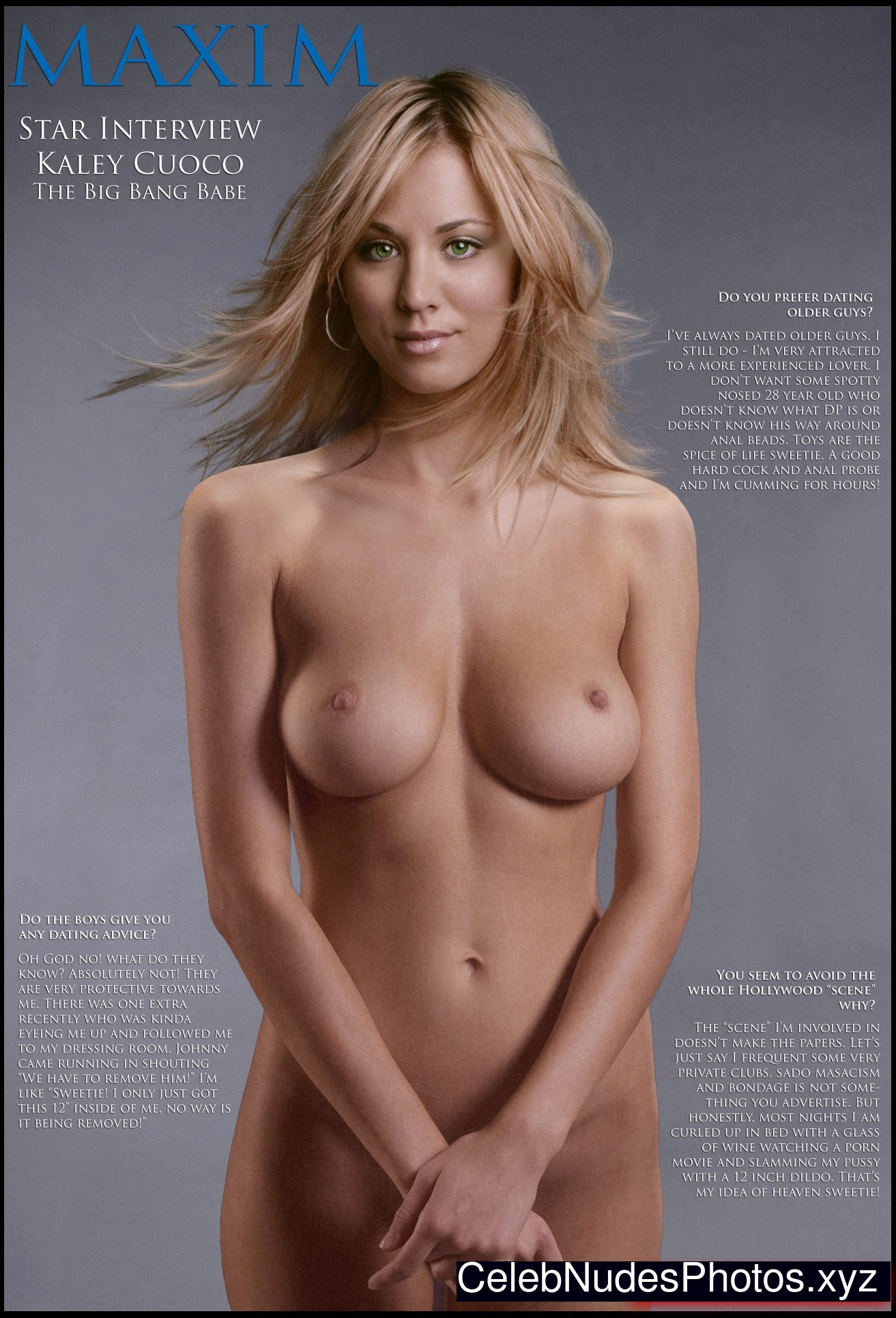 cuoco naked Kaley