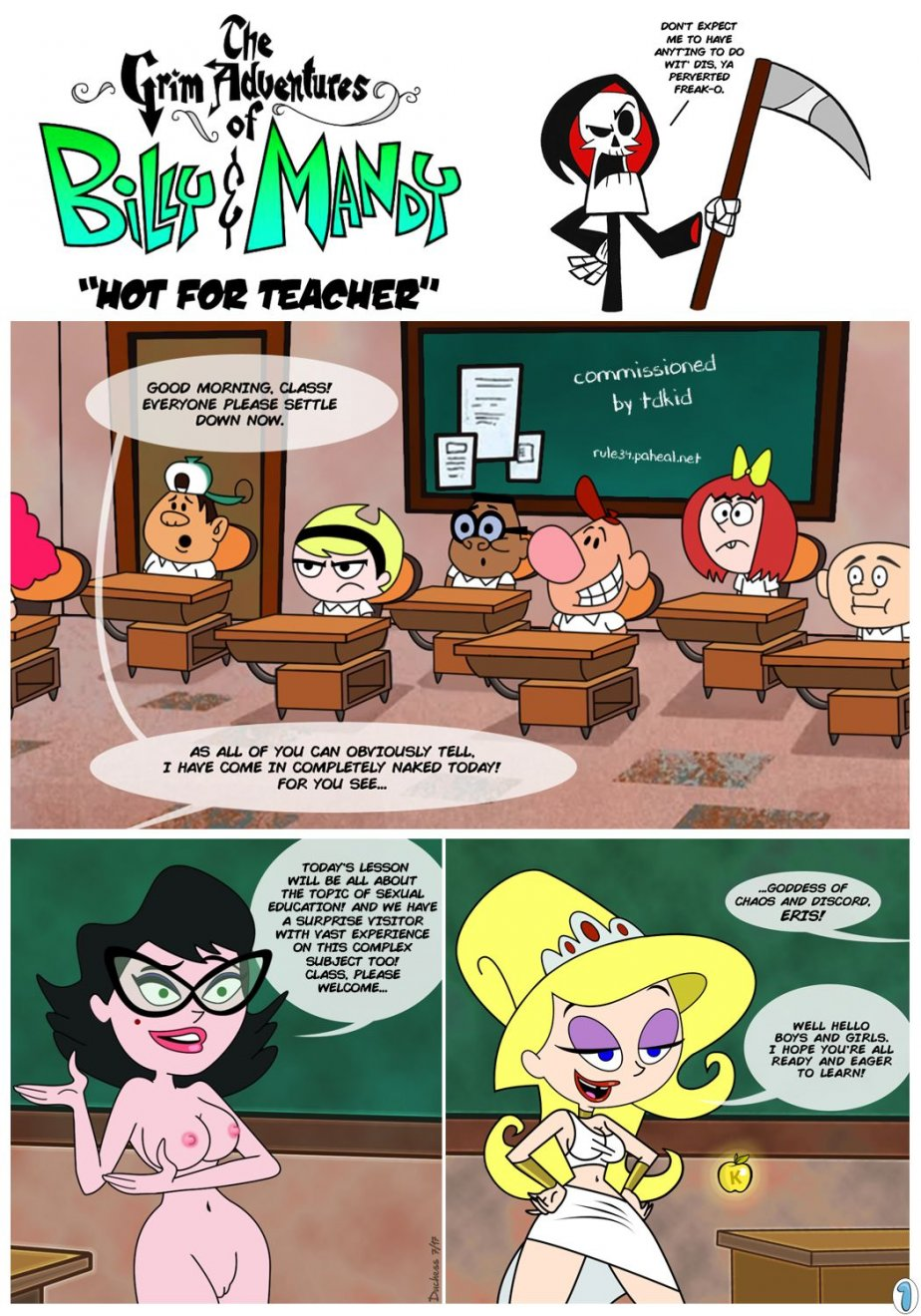 comic mandy adventures Grim and billy porn