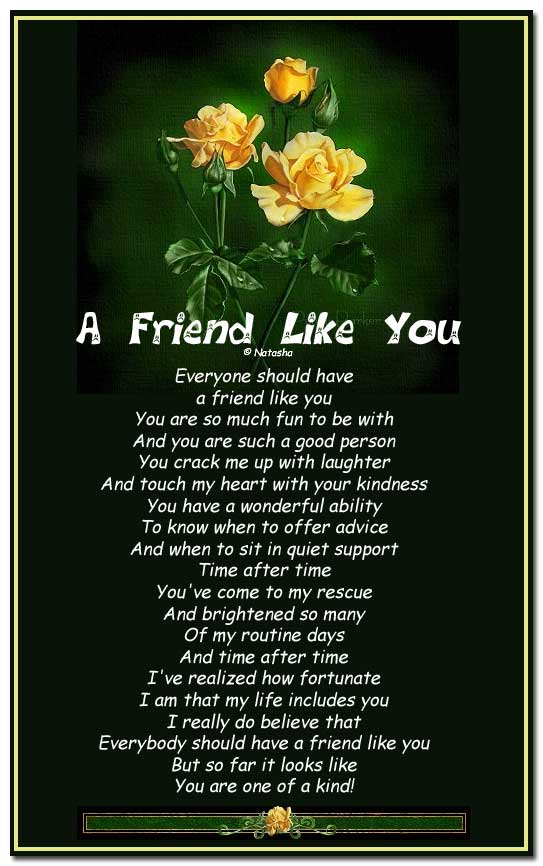 friend I love poems you