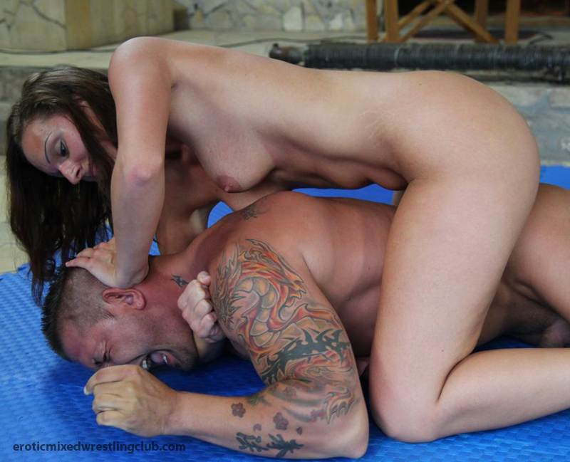 club wrestling Erotic mixed