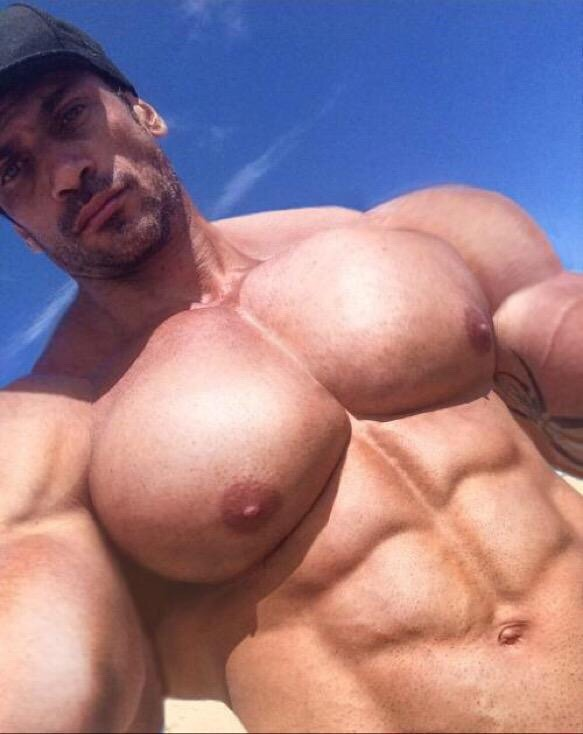 pec worship muscle Gay