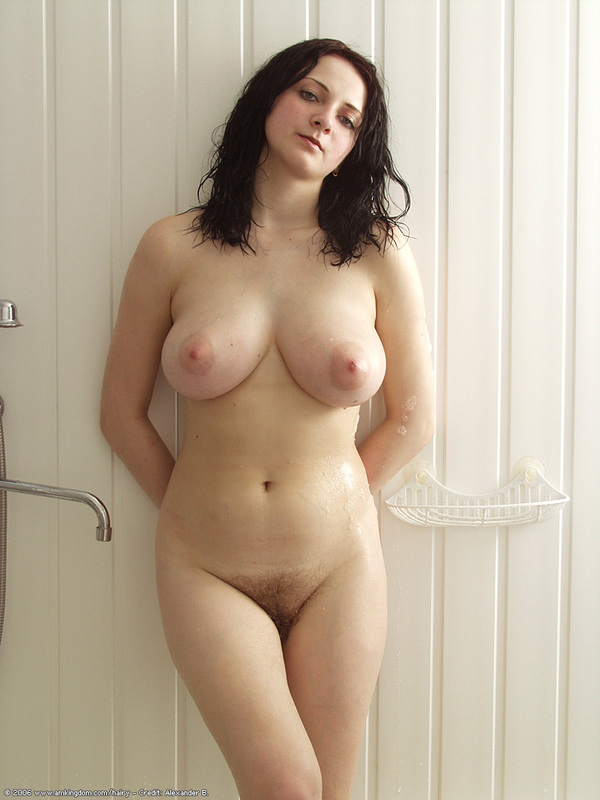 Very hot naked brunette