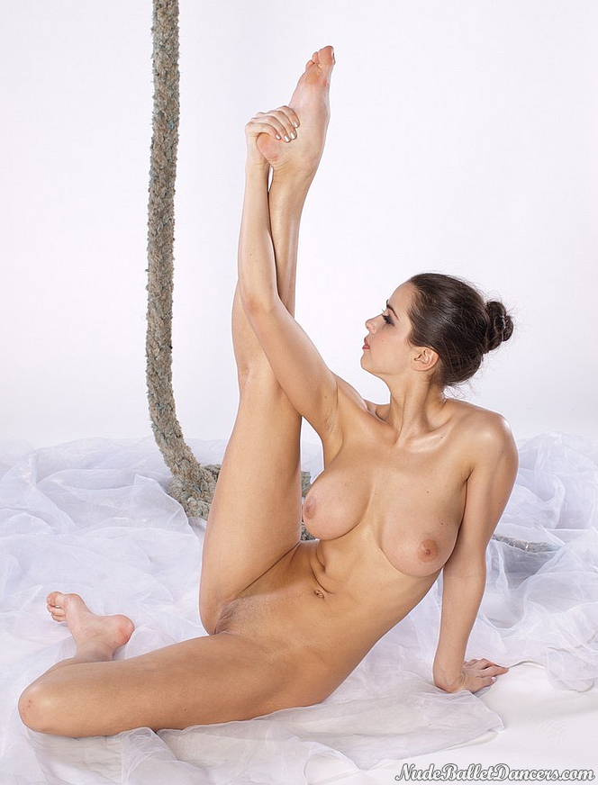 Nude ballet dancers with natural boobs