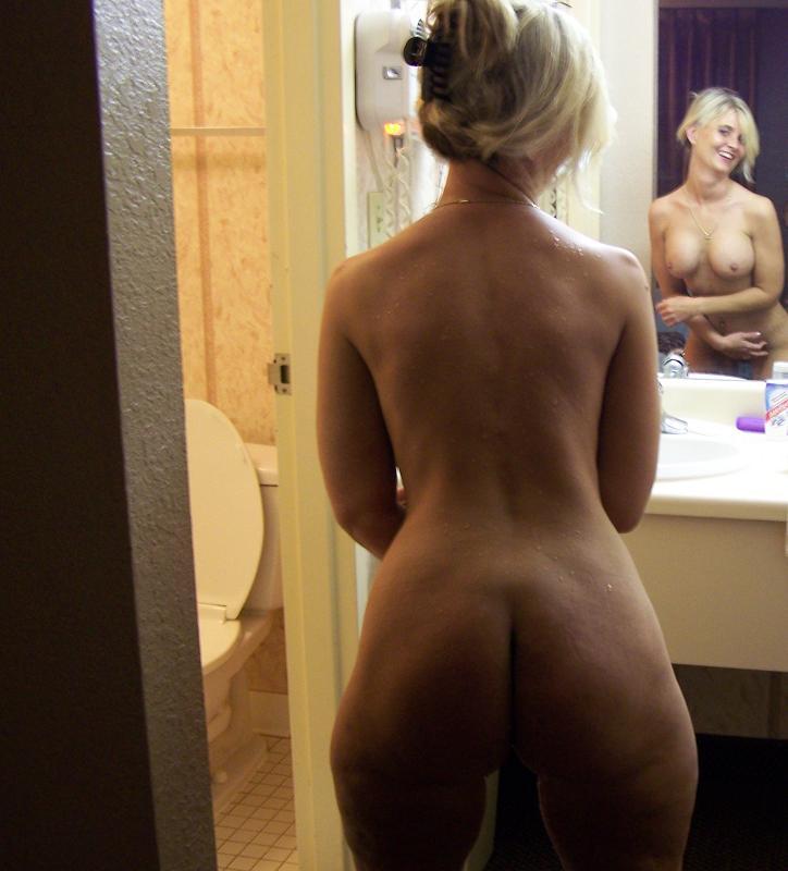 mirror ass Naked
