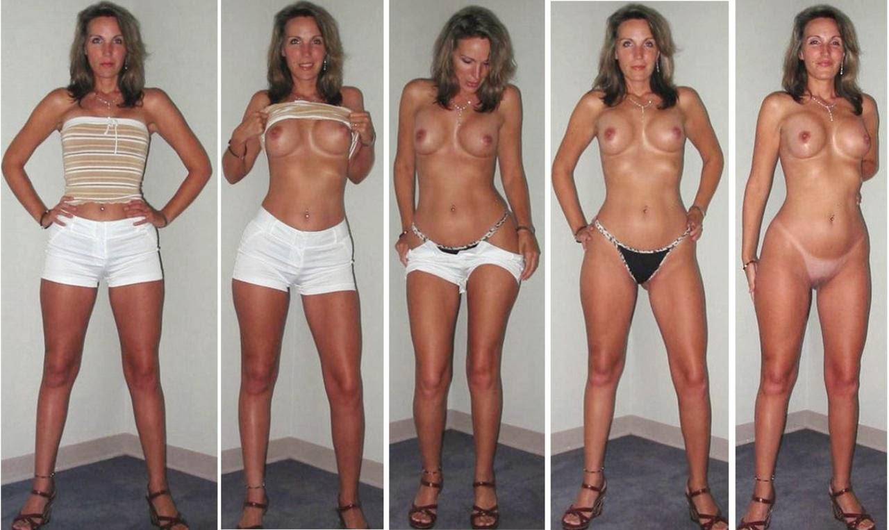 Blonde milf dressed undressed agree