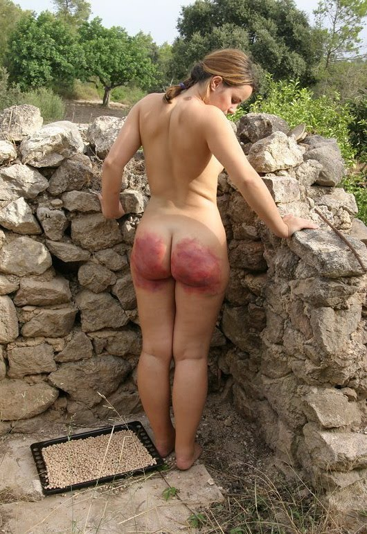 on a Girls getting beach spanking the