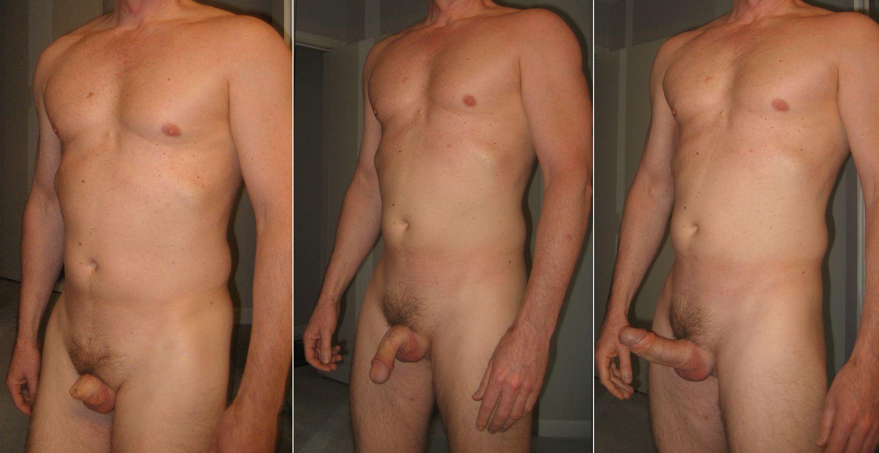 size cock Naked average men