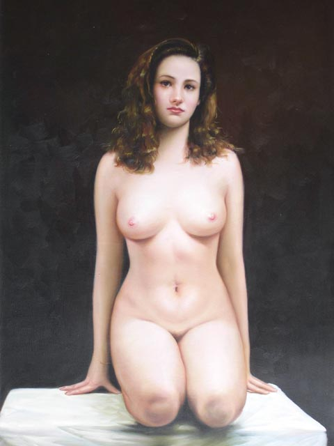 painting art Girl nude