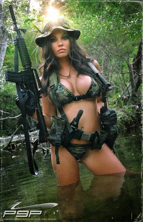 military Hot camo nude girls in