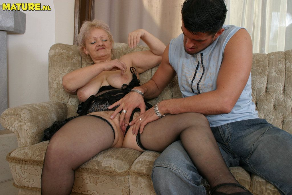 playing Old cock granny with