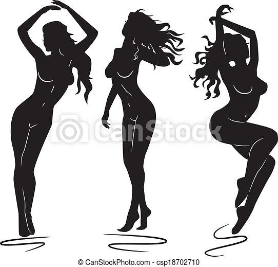 girl Nude silhouette art