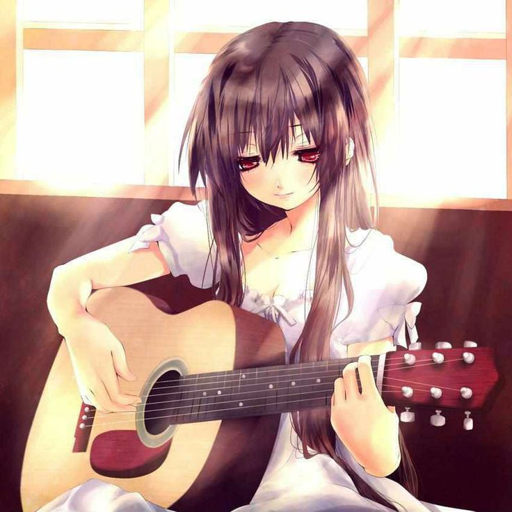 guitar with Anime girl