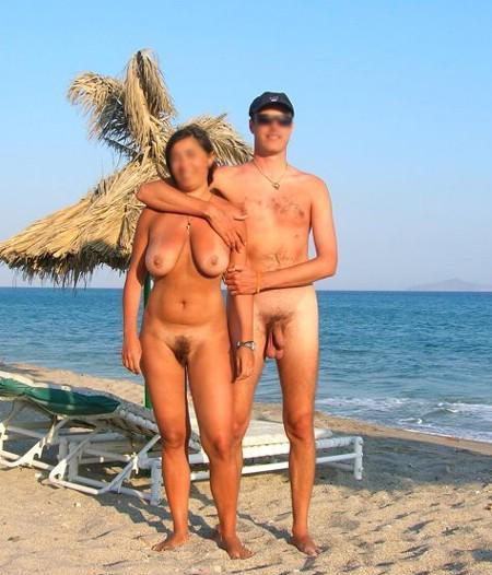 Mom and son naked on beach final, sorry