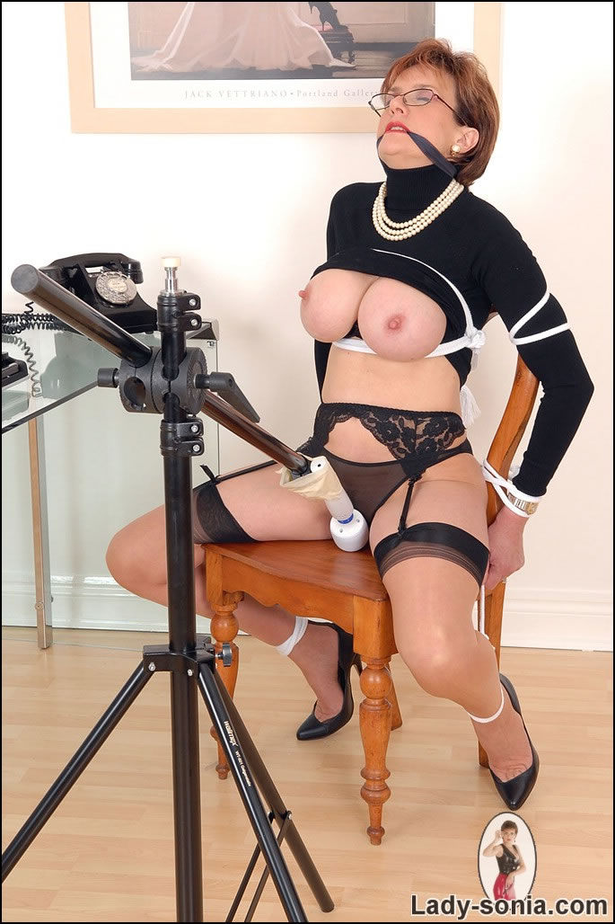 gagged and sonia Lady bound