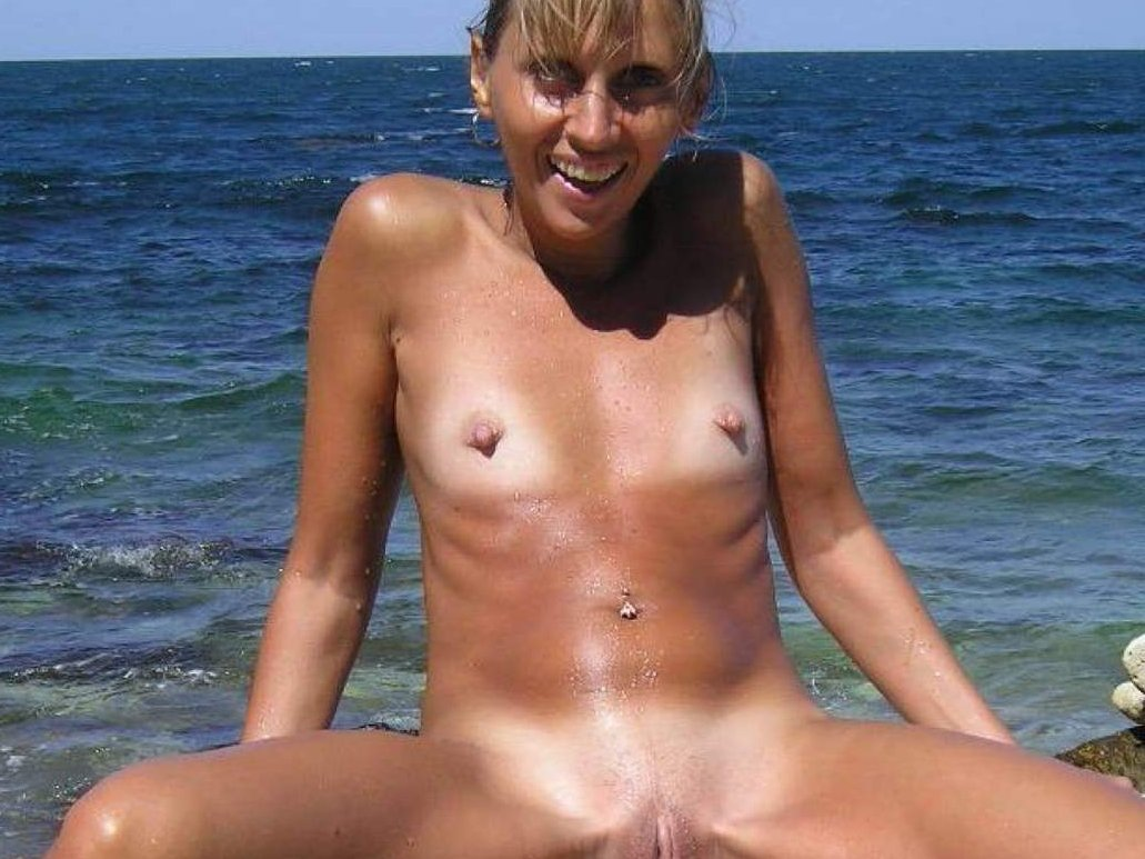 Personal Naked mature hand beach think