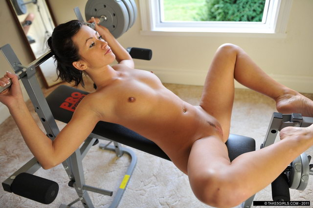 from Caleb females working out naked