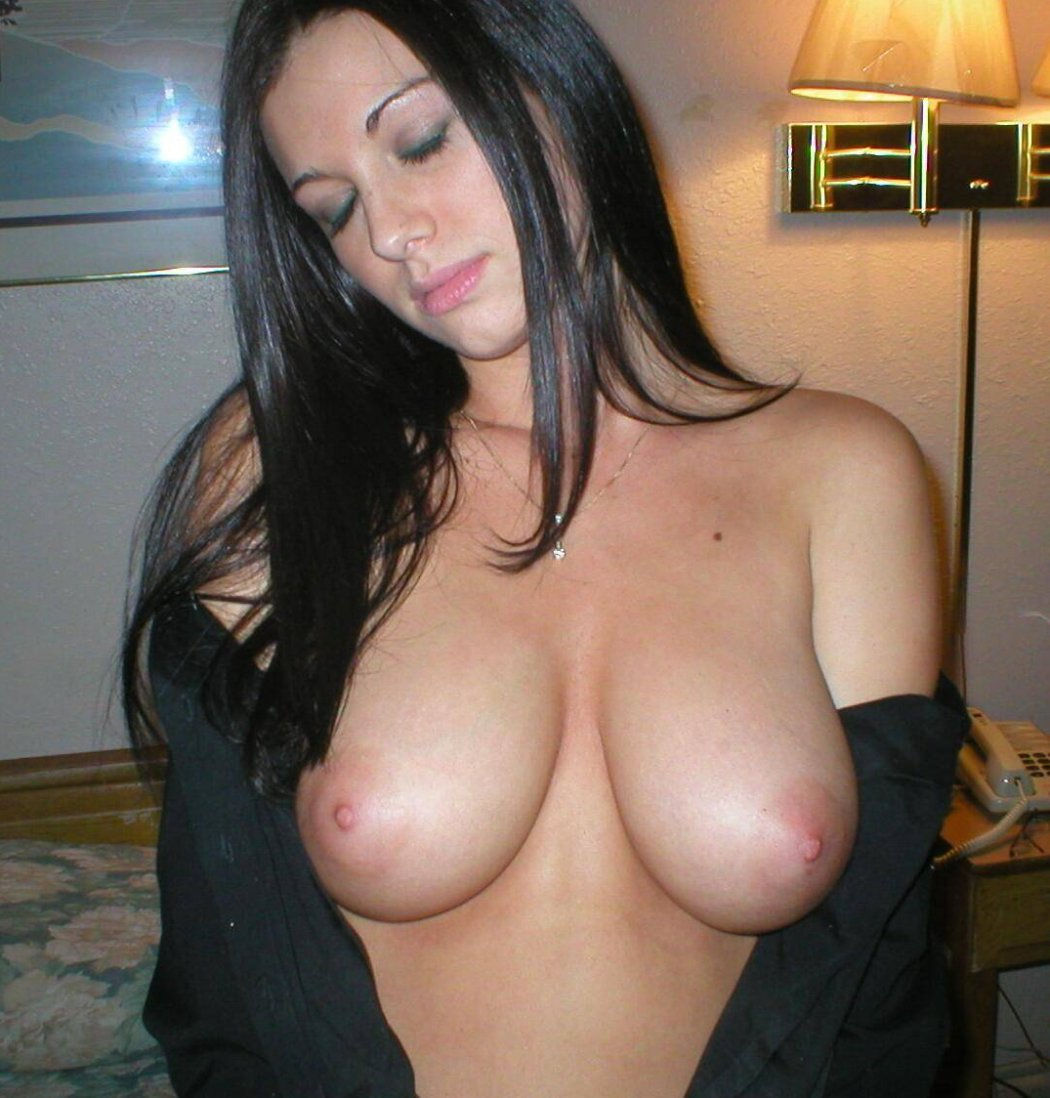 with Hot big tits brunette