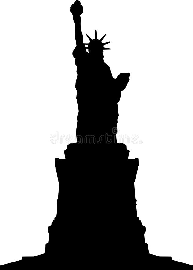 liberty silhouette of vector Statue
