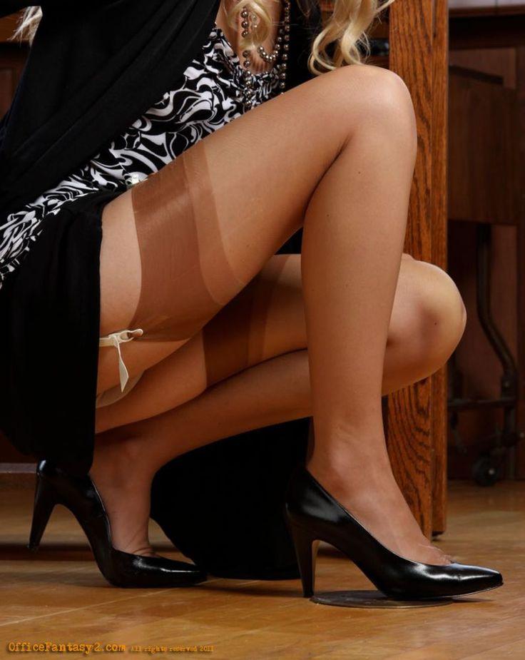 pictures Pantyhose feet secretary