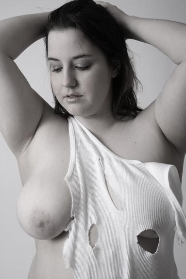 ripped open boobs Shirt