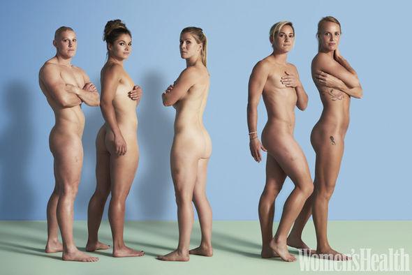 woman Naked bodybuilder female