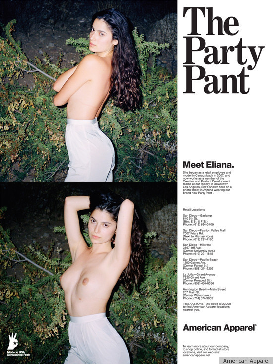 controversial American ad apparel
